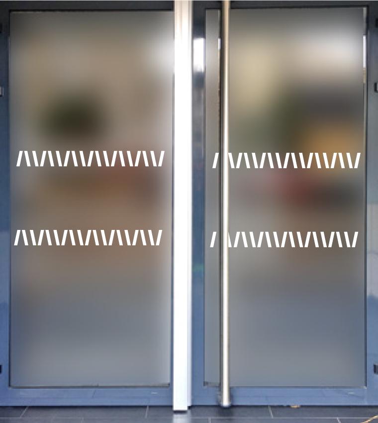 bandes de s curit pour surfaces vitr es barres inclin es bandes de securite. Black Bedroom Furniture Sets. Home Design Ideas