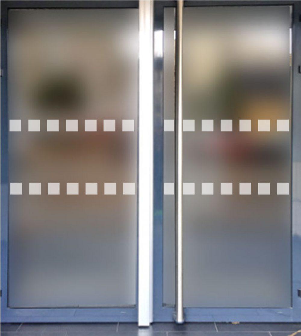Bandes cache portes vitrees transparente