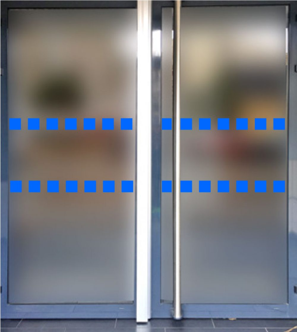 Stop porte vitree antichoc bleu