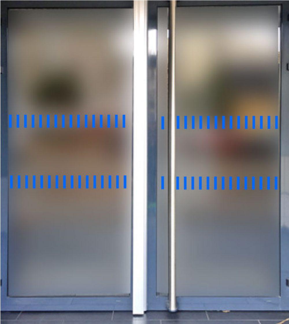bandes parois vitrées situées cheminements bordure
