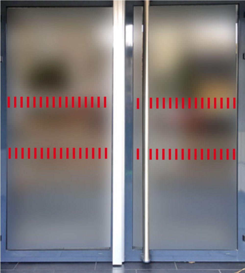 bandes-securite-signalisation-porte-vitree-verticale-rouge